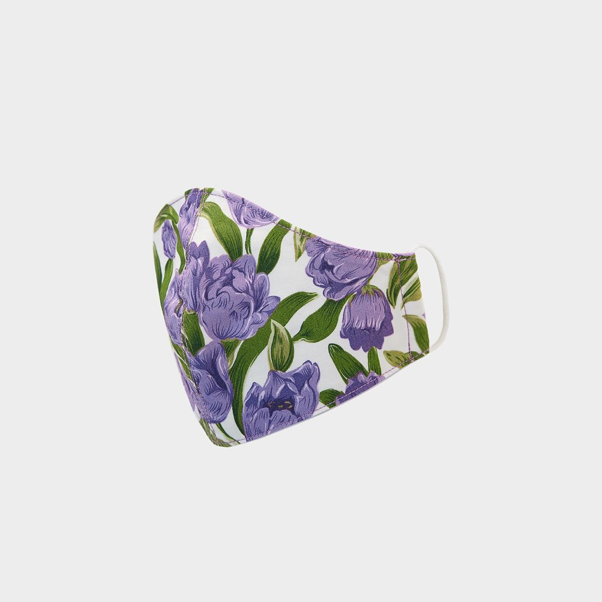 People Triple Defense Layer Mask Flowery Violet