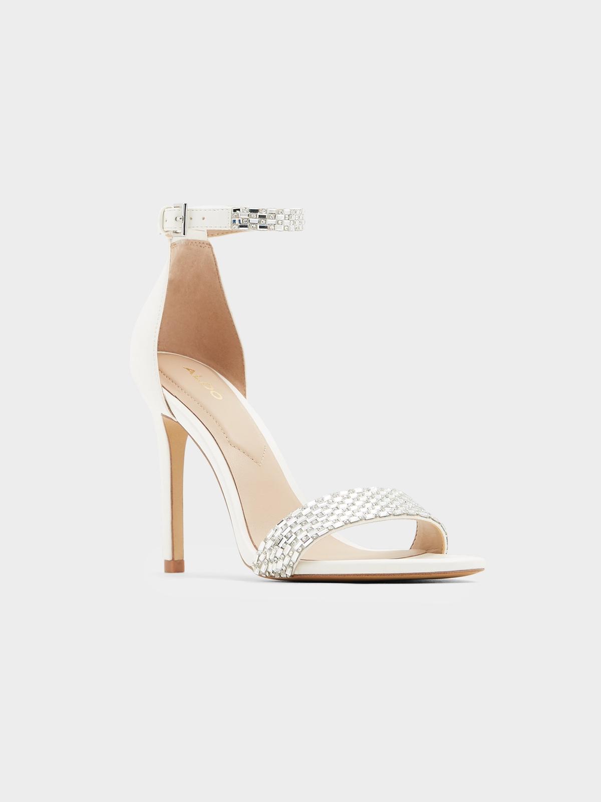 Aldo Prommy Strap Heels White