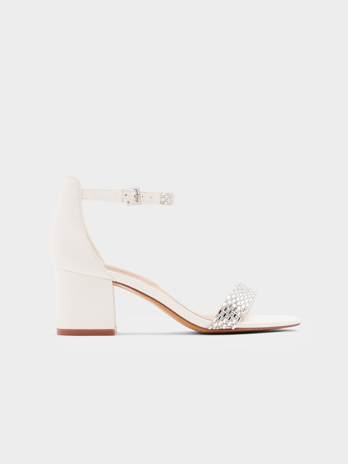 Aldo Vanami Block Heels White