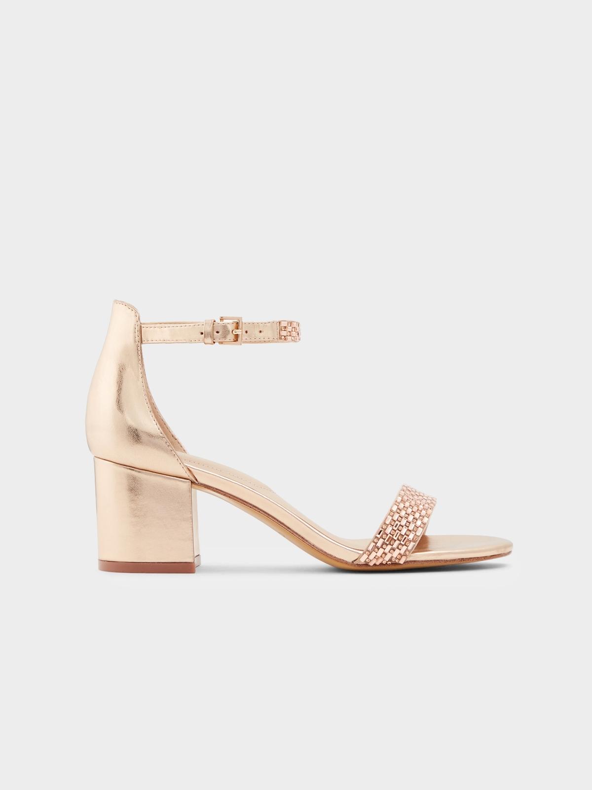 Aldo Vanami Block Heels Pink Gold