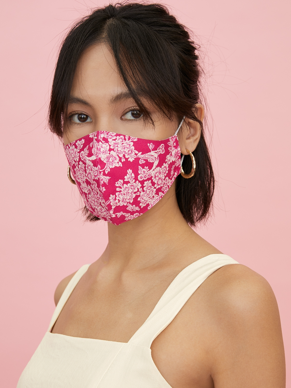 People Triple Defense Layer Reusable Mask Hot Pink