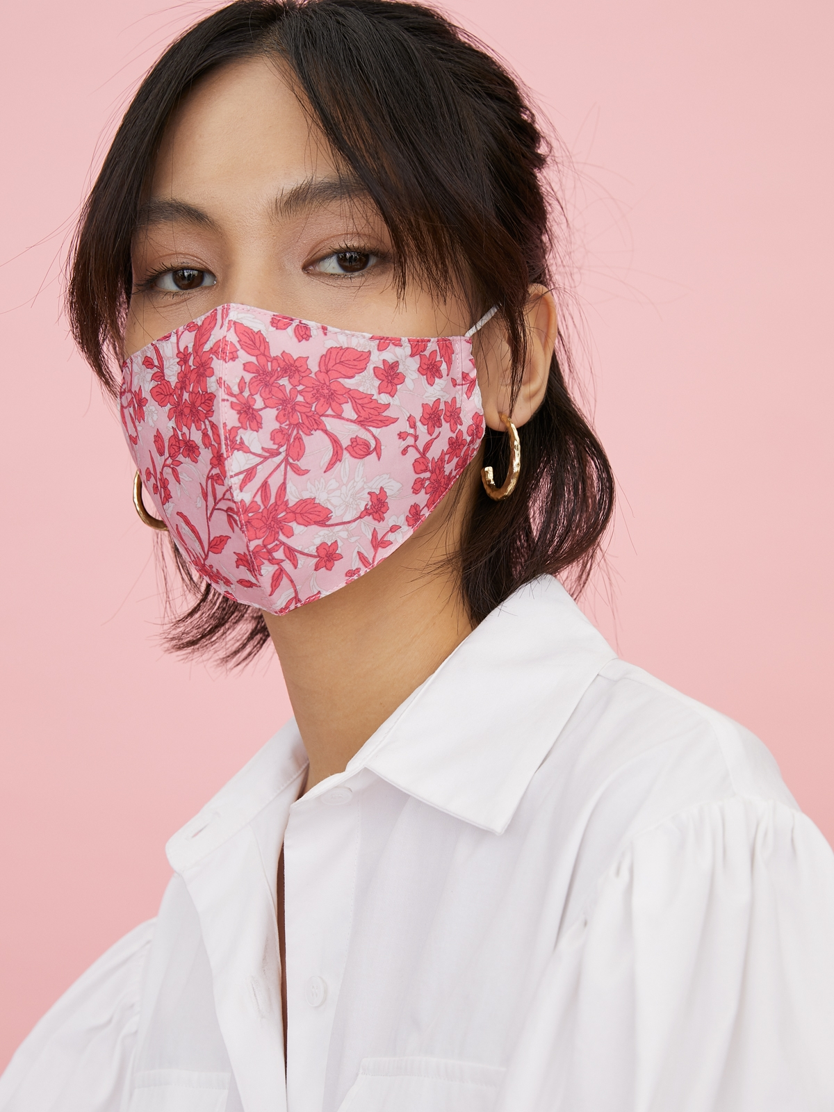 People Triple Defense Layer Reusable Mask Light Pink