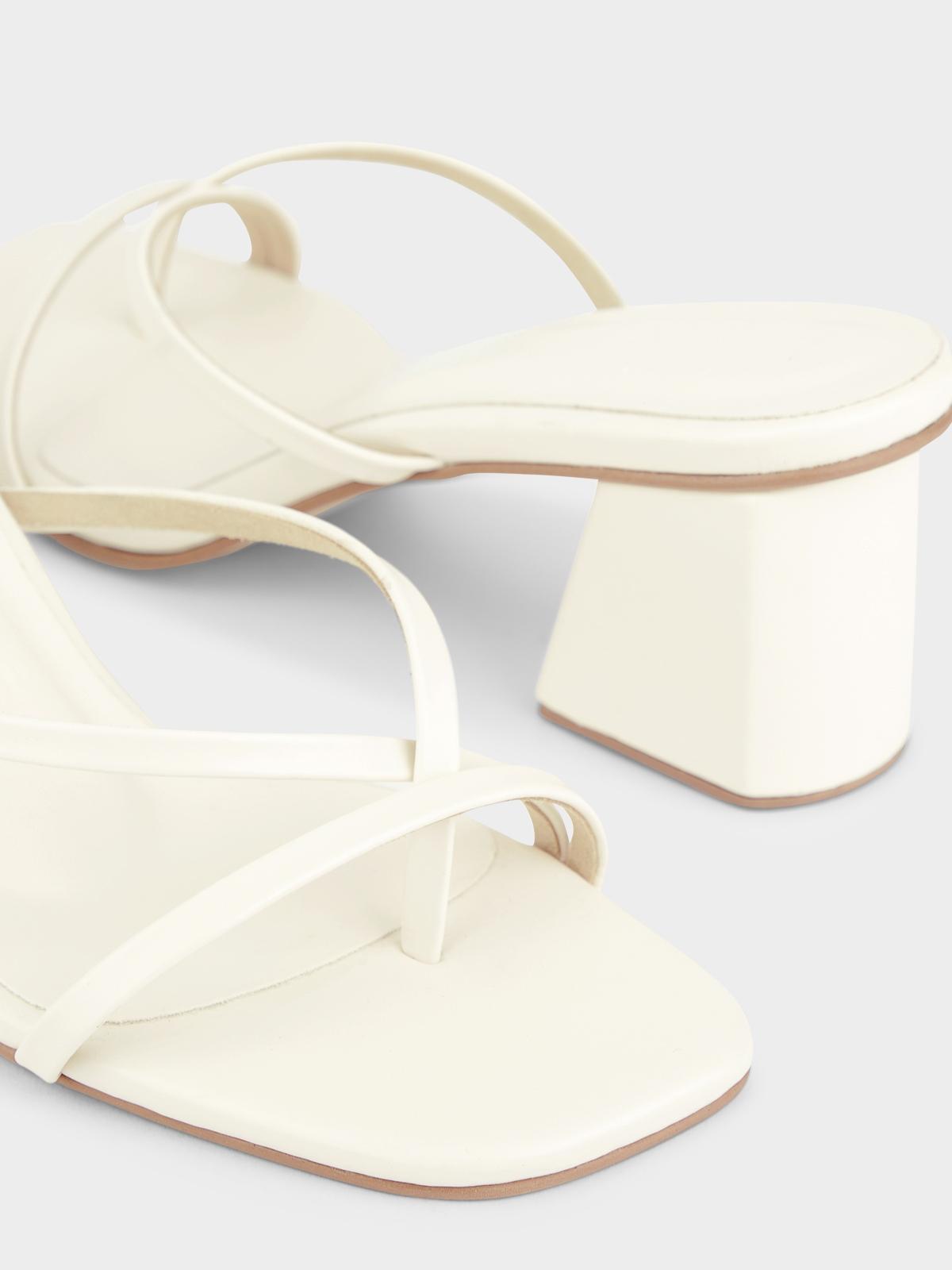 Plush Studios Bella High Heels White