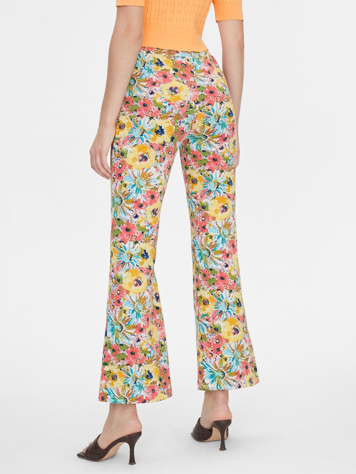 Matter Makers 120Flower Print Jersey Pants Yellow
