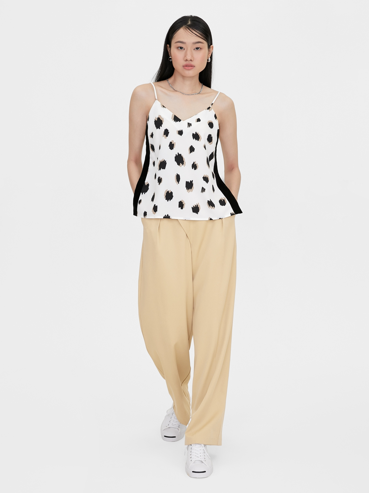 Matter Makers MM Leopard Top White