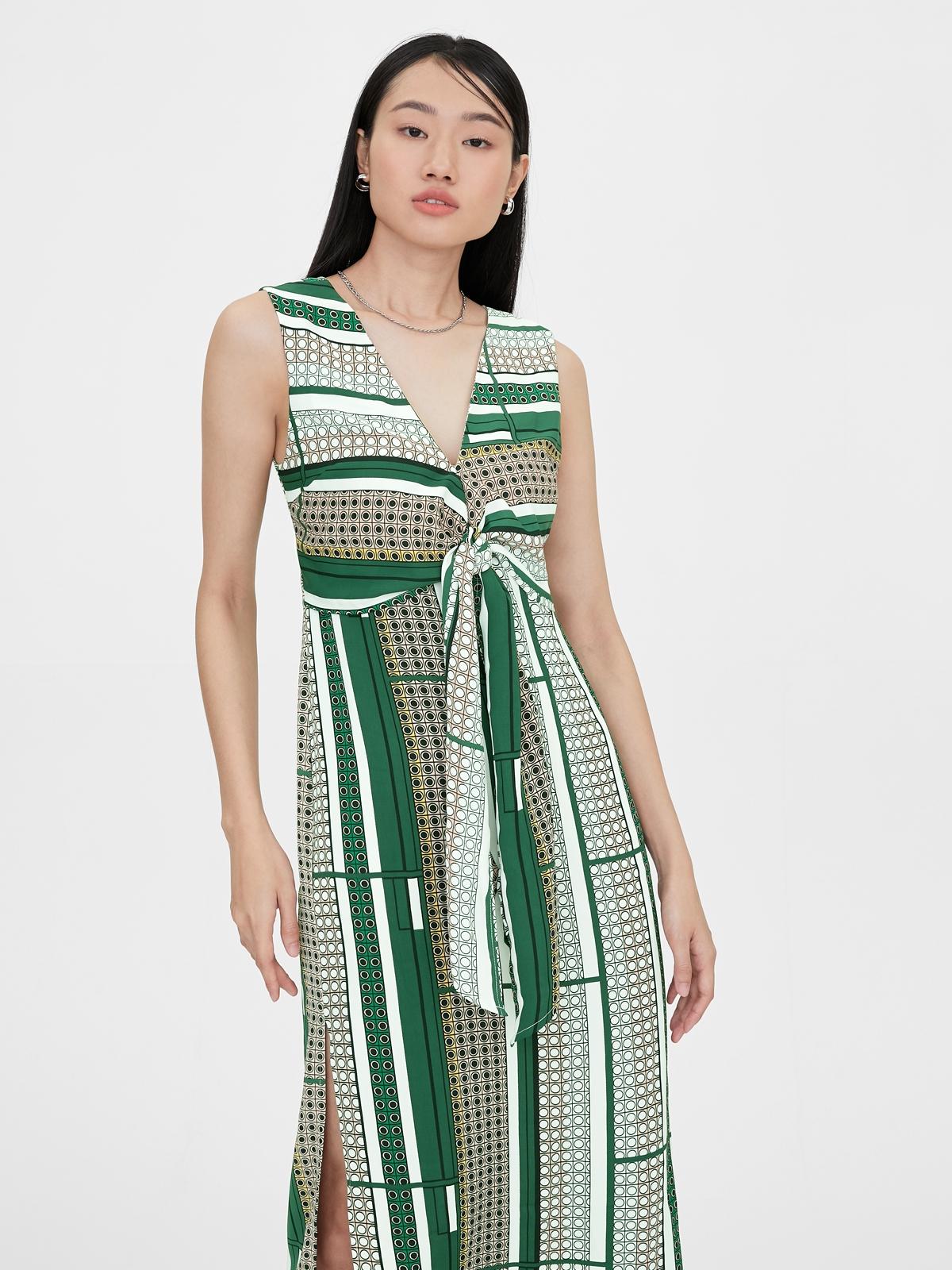 Matter Makers Geometric Printed Dress Multicolor