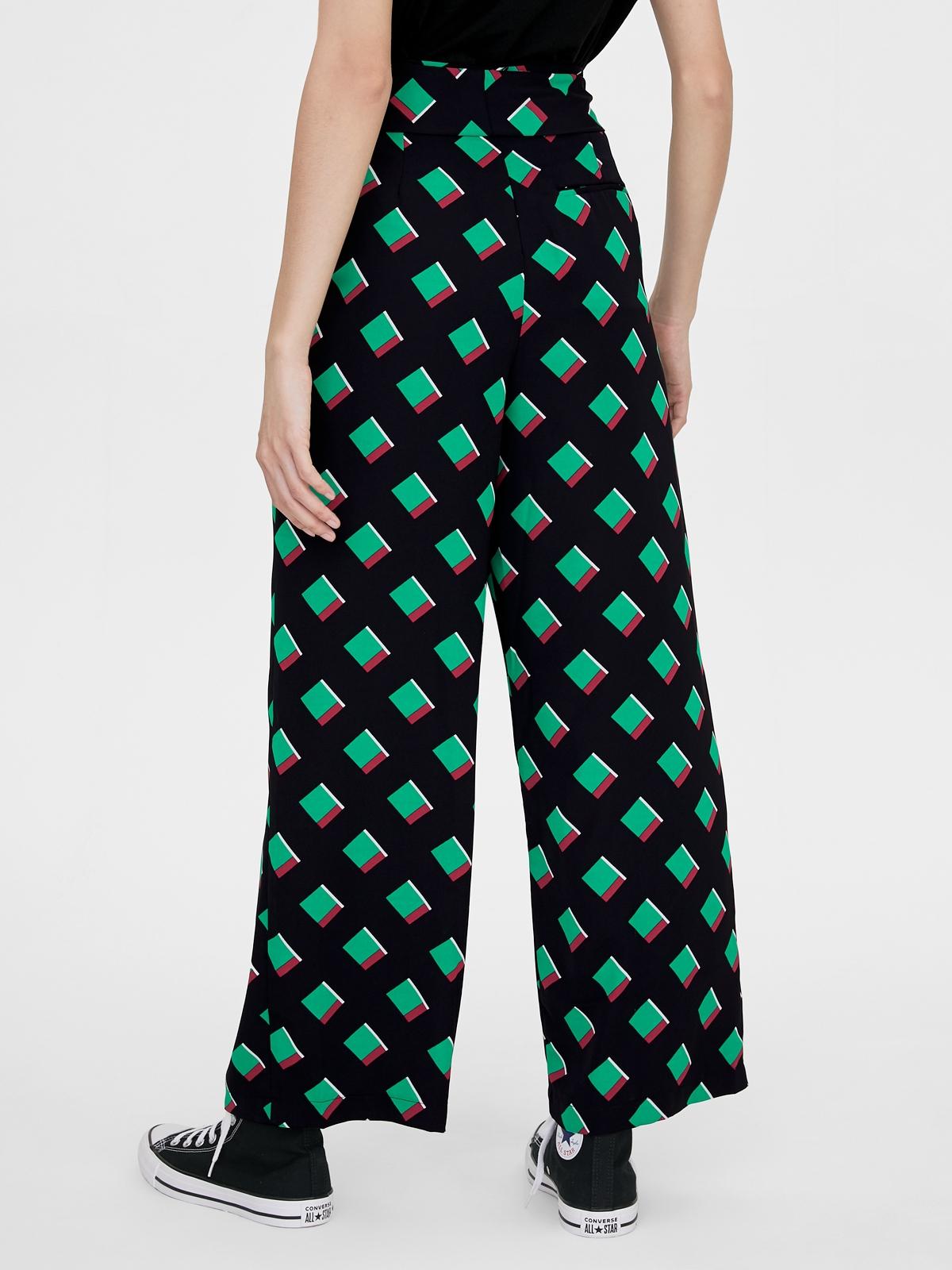 Matter Makers Geometric Printed Pants Black