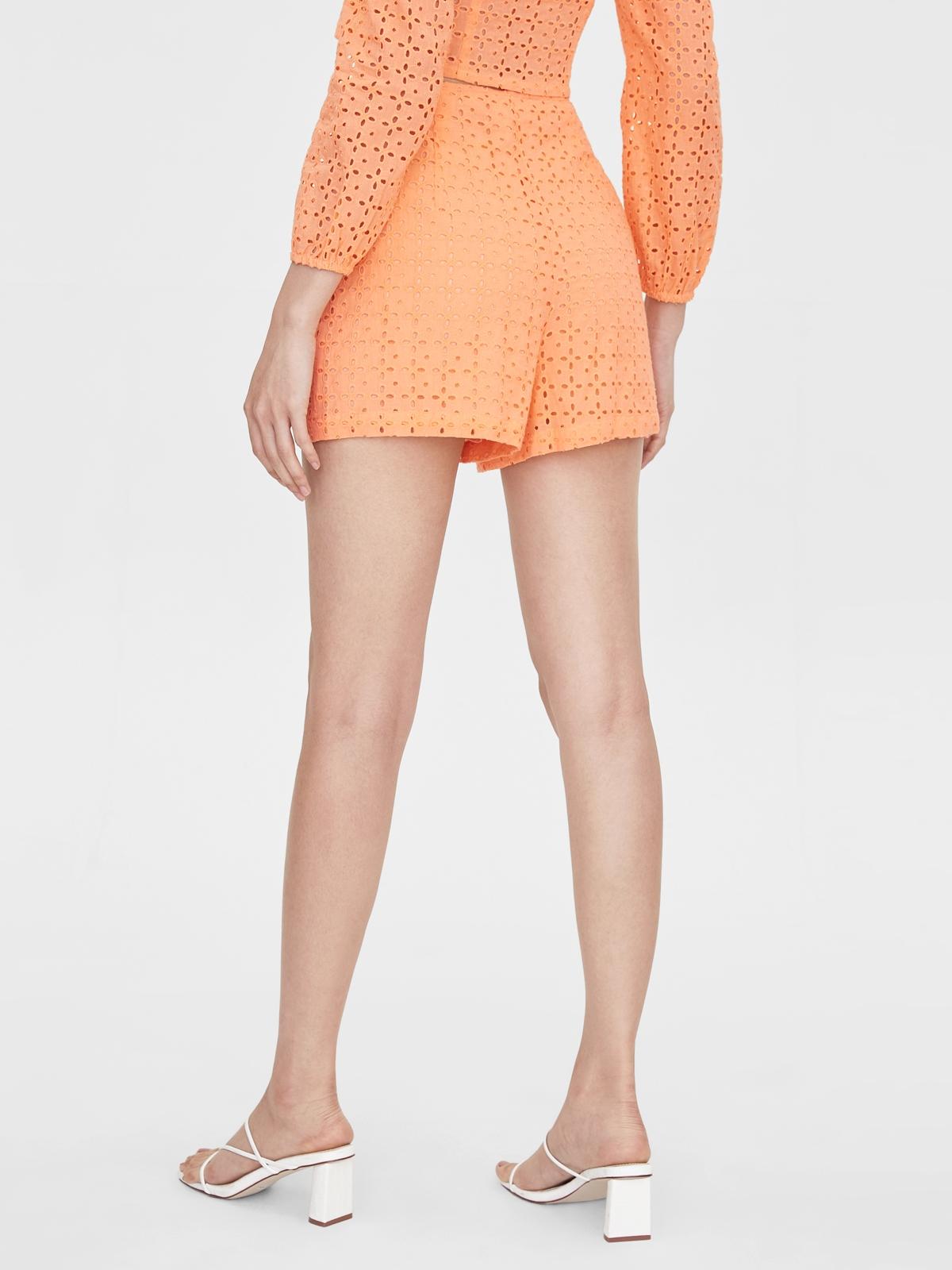 Eyelet Basic Shorts Peach