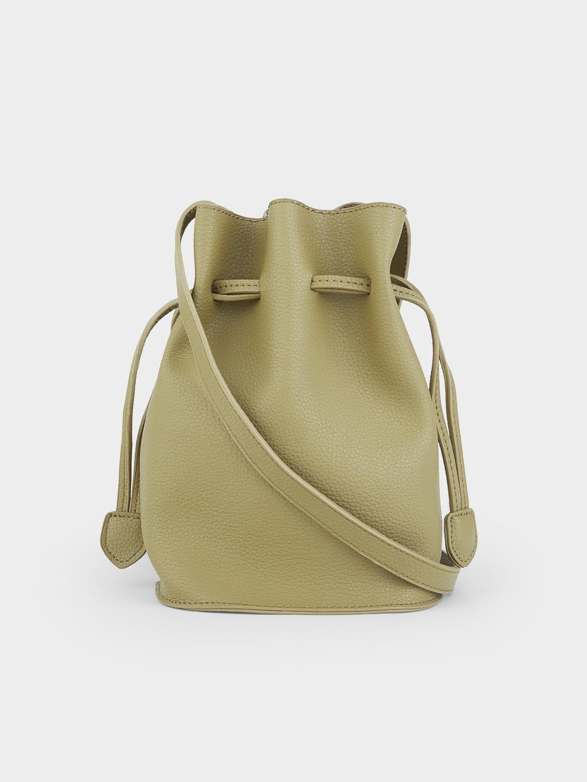 Drawstring Crossbody Bucket Bag Light Green