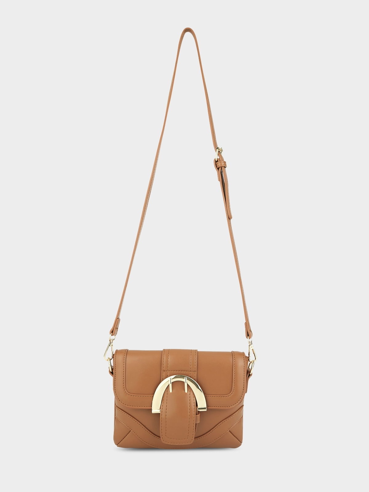 Buckle Crossbody Bag Brown