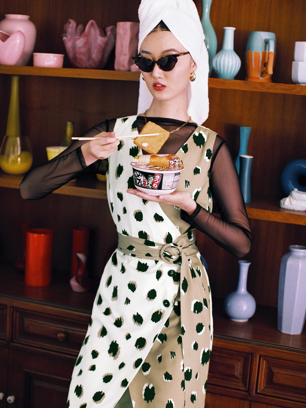 Matter Makers MM Leopard BiColor Dress Multicolor