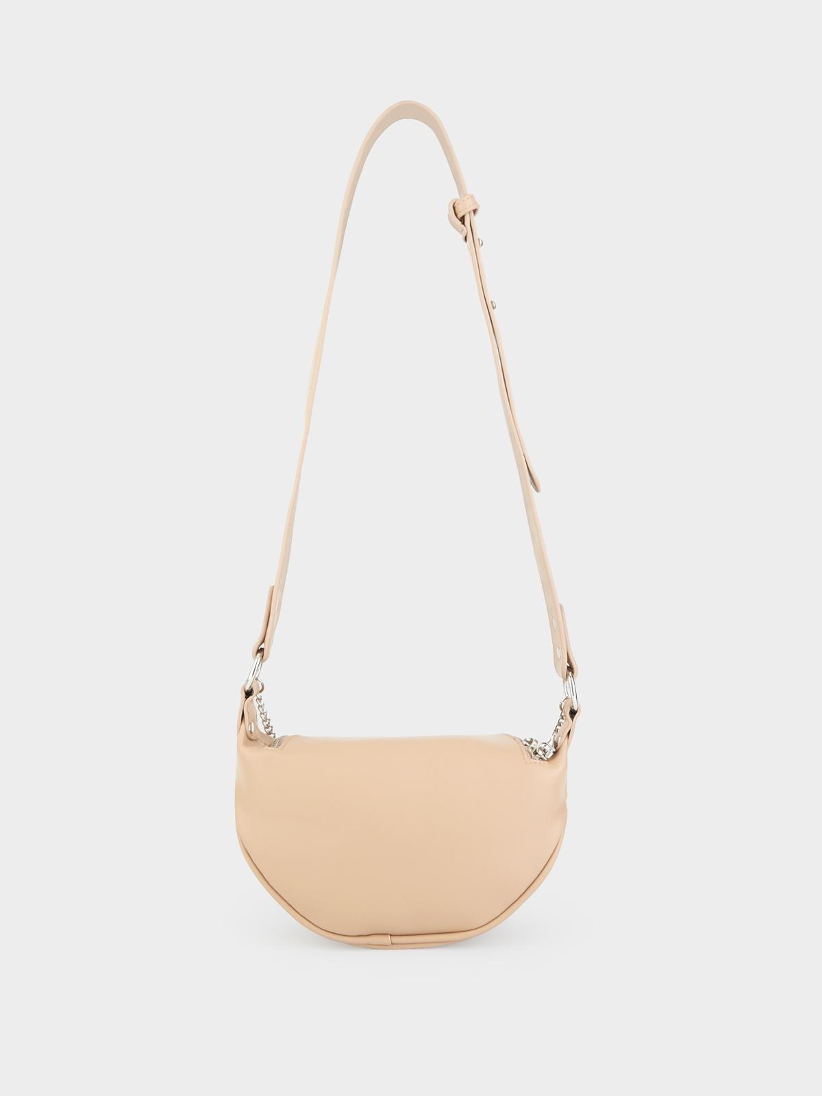 Chain Semi Circle Belt Bag Nude