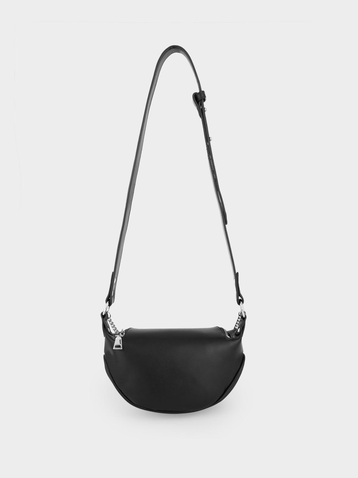 Chain Semi Circle Belt Bag Black