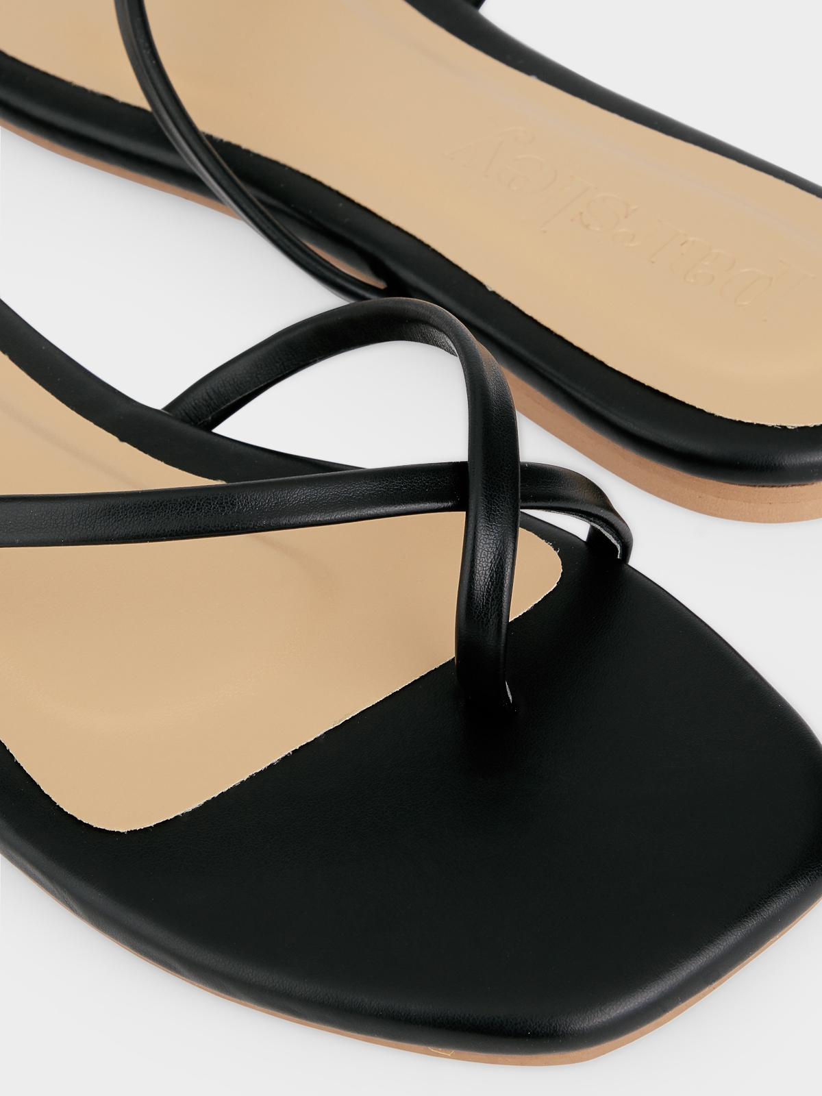 The Parsley Market Bone Sandals Black