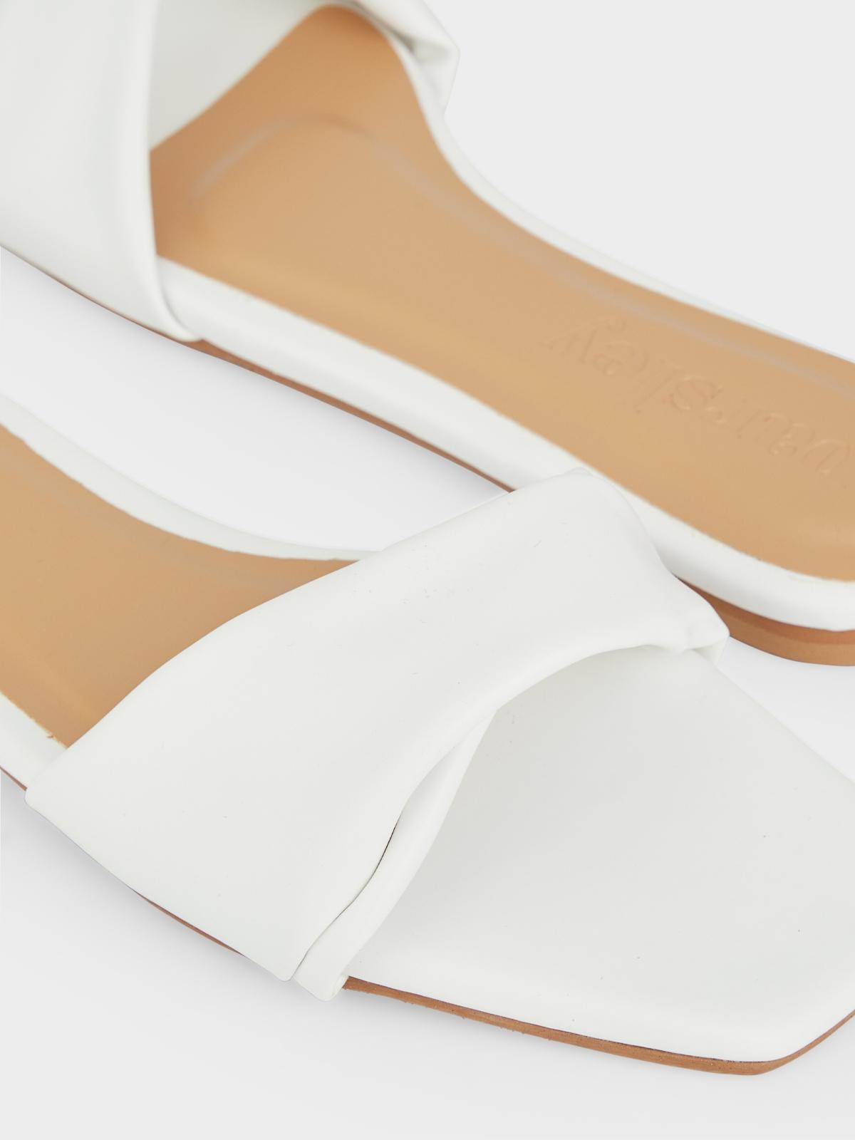 The Parsley Market Leaf Sandals White