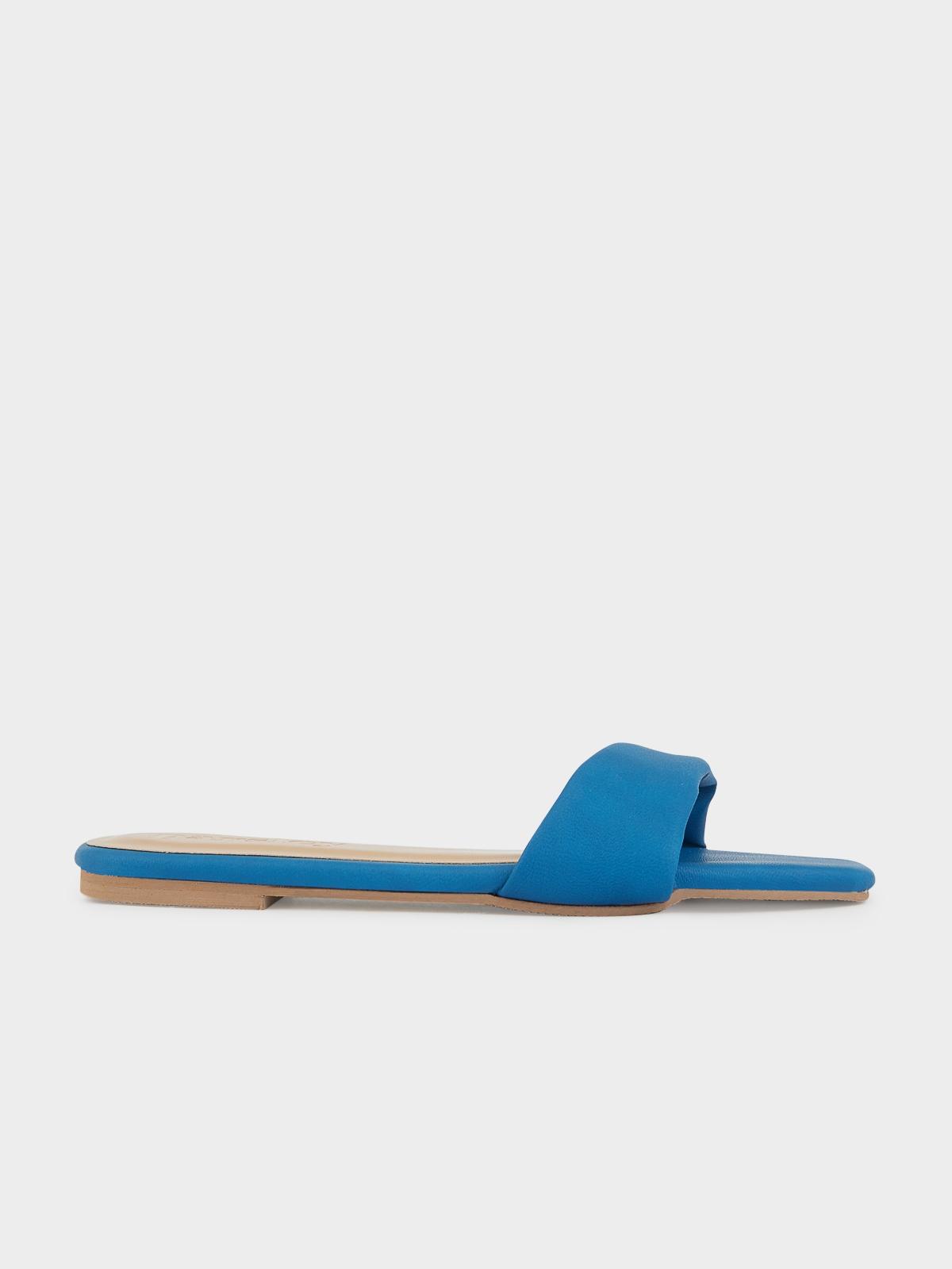 The Parsley Market Leaf Sandals Aqua Blue