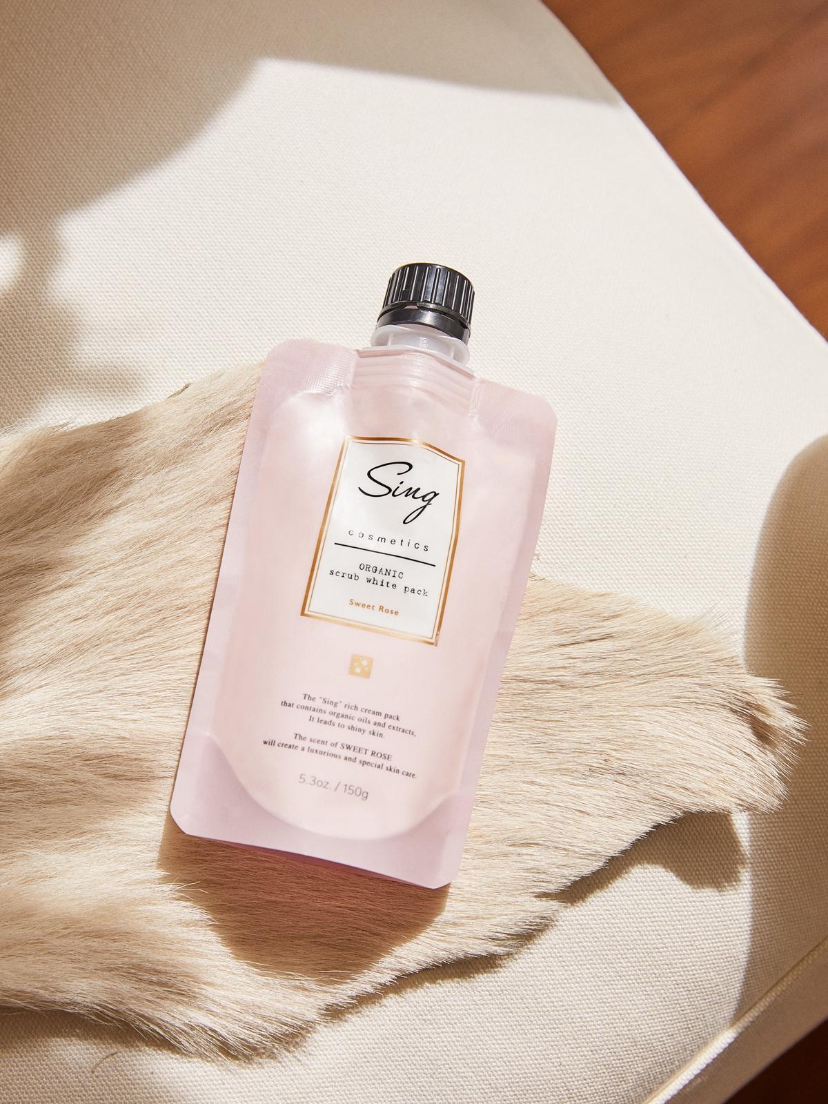 Sing Cosmetics Organic Scrub White Pack Sweet Rose