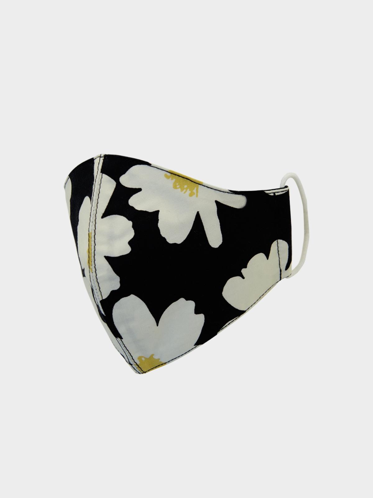 People Triple Defense Layer Mask Flower Black
