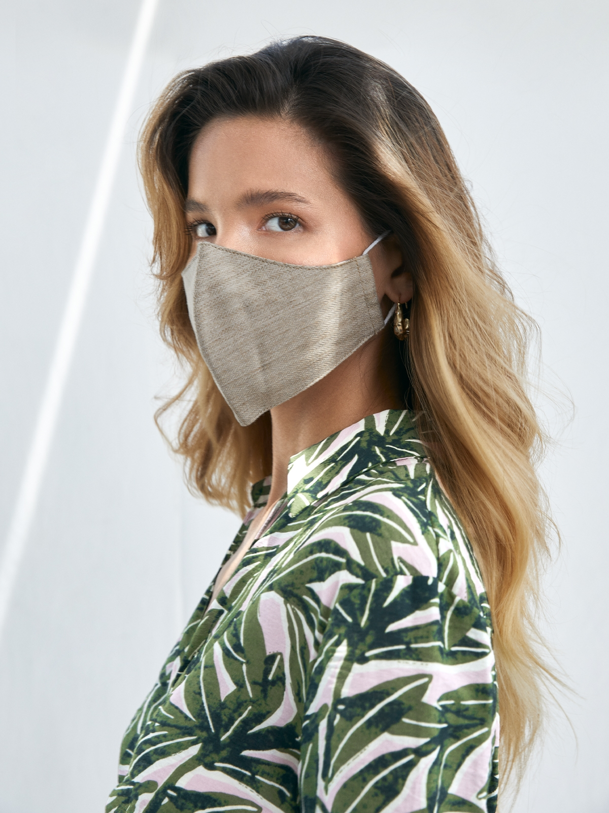 People Triple Defense Layer Mask Beige Knit Beige