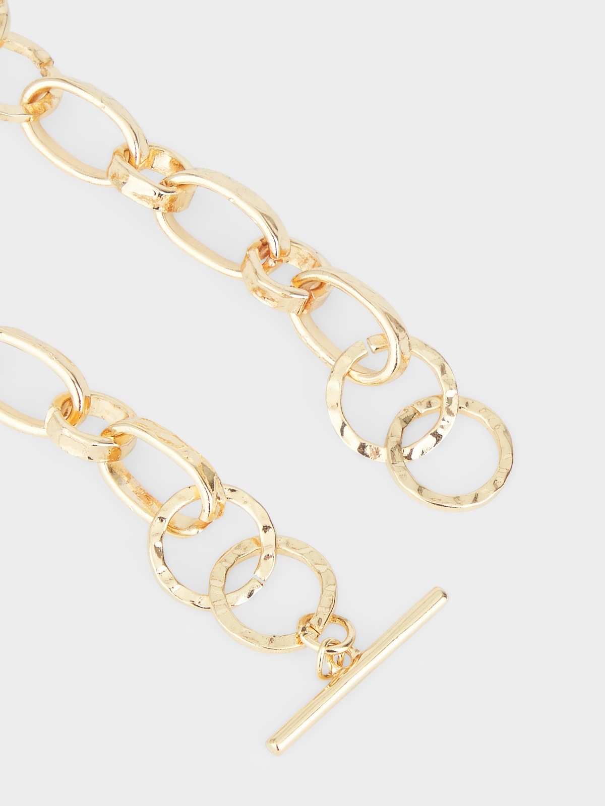 Hoop Chain Necklace Gold