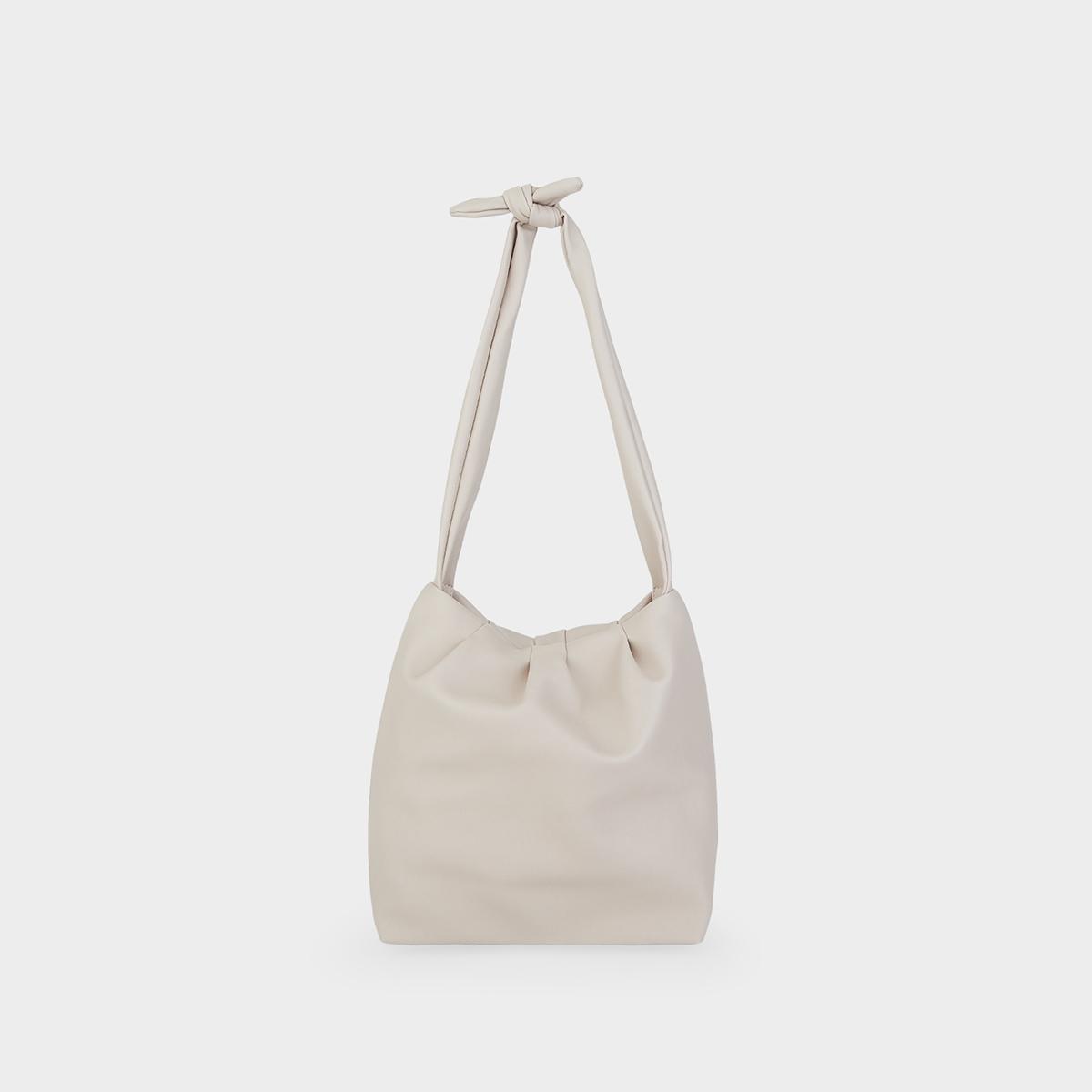 Bow Tie Strap Crossbody Bag White