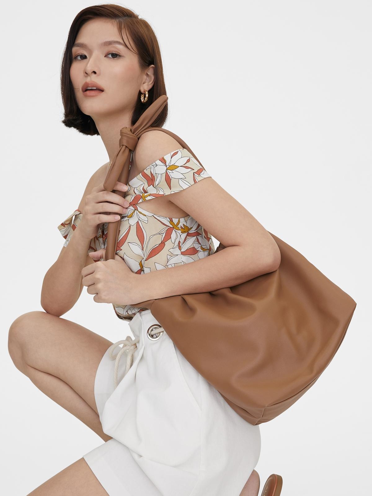 Bow Tie Strap Crossbody Bag Orange