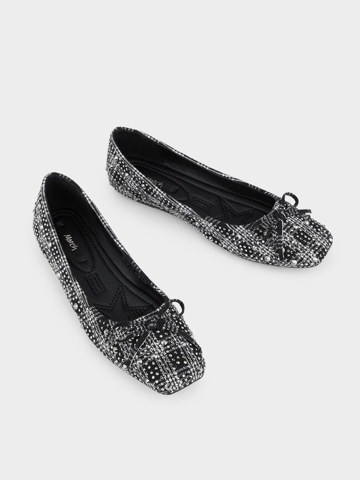 March Shoes Scotchy Flats Black