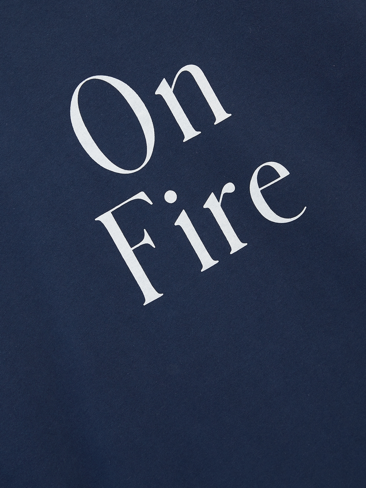 On Fire Organic Cotton Graphic Tee Navy