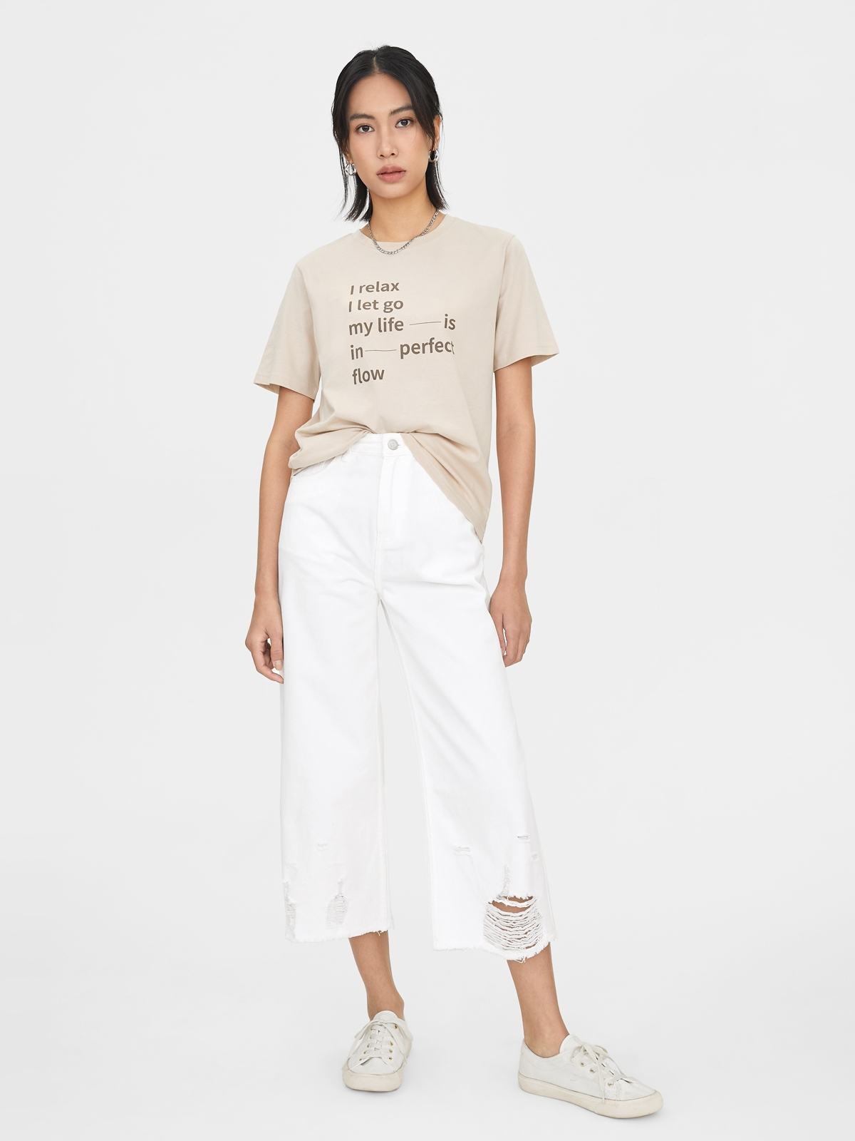 Safe At Home Organic Cotton Graphic Tee White