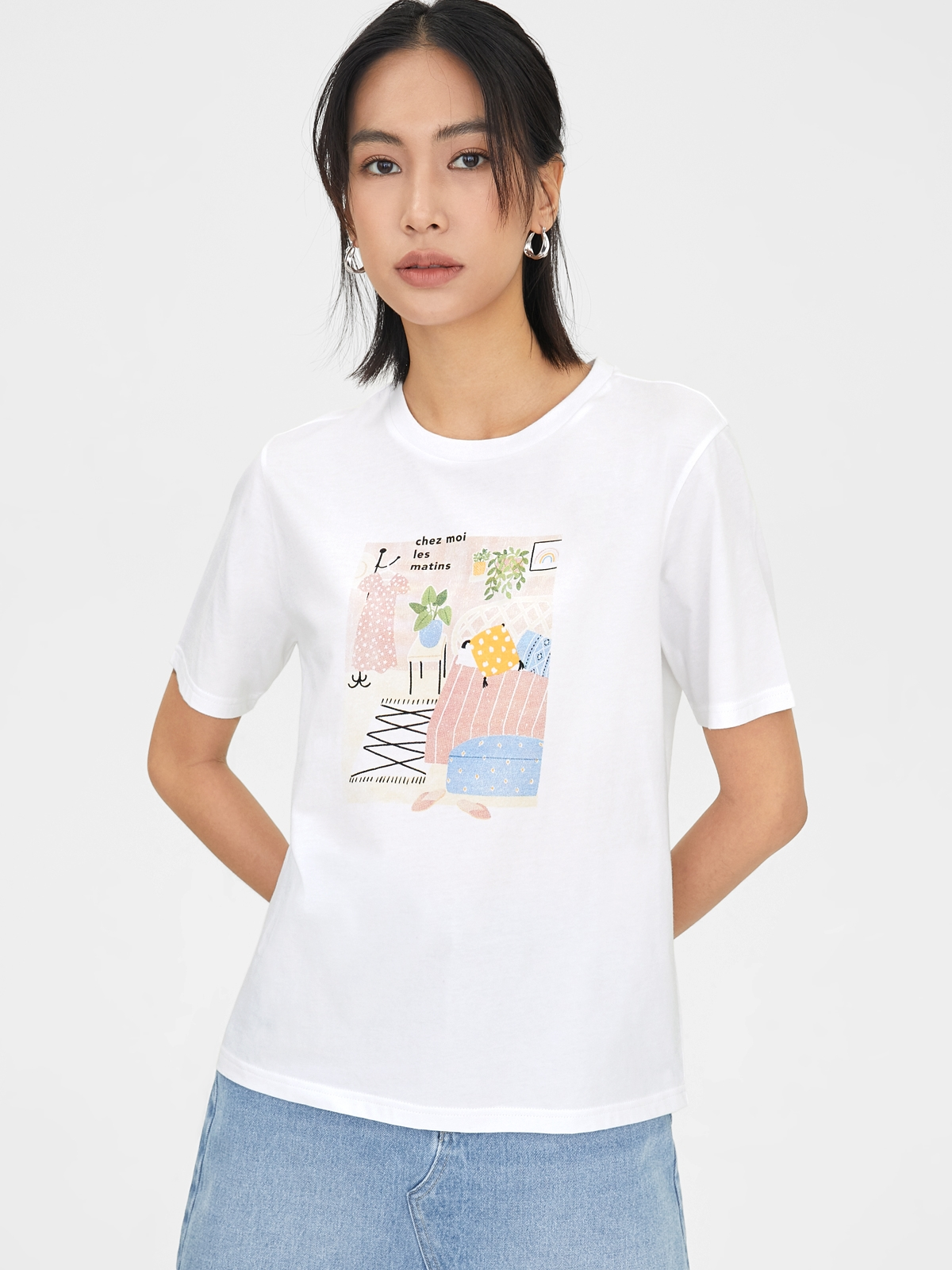 I Relax I Let Go My Life Organic Cotton Graphic Tee Bei
