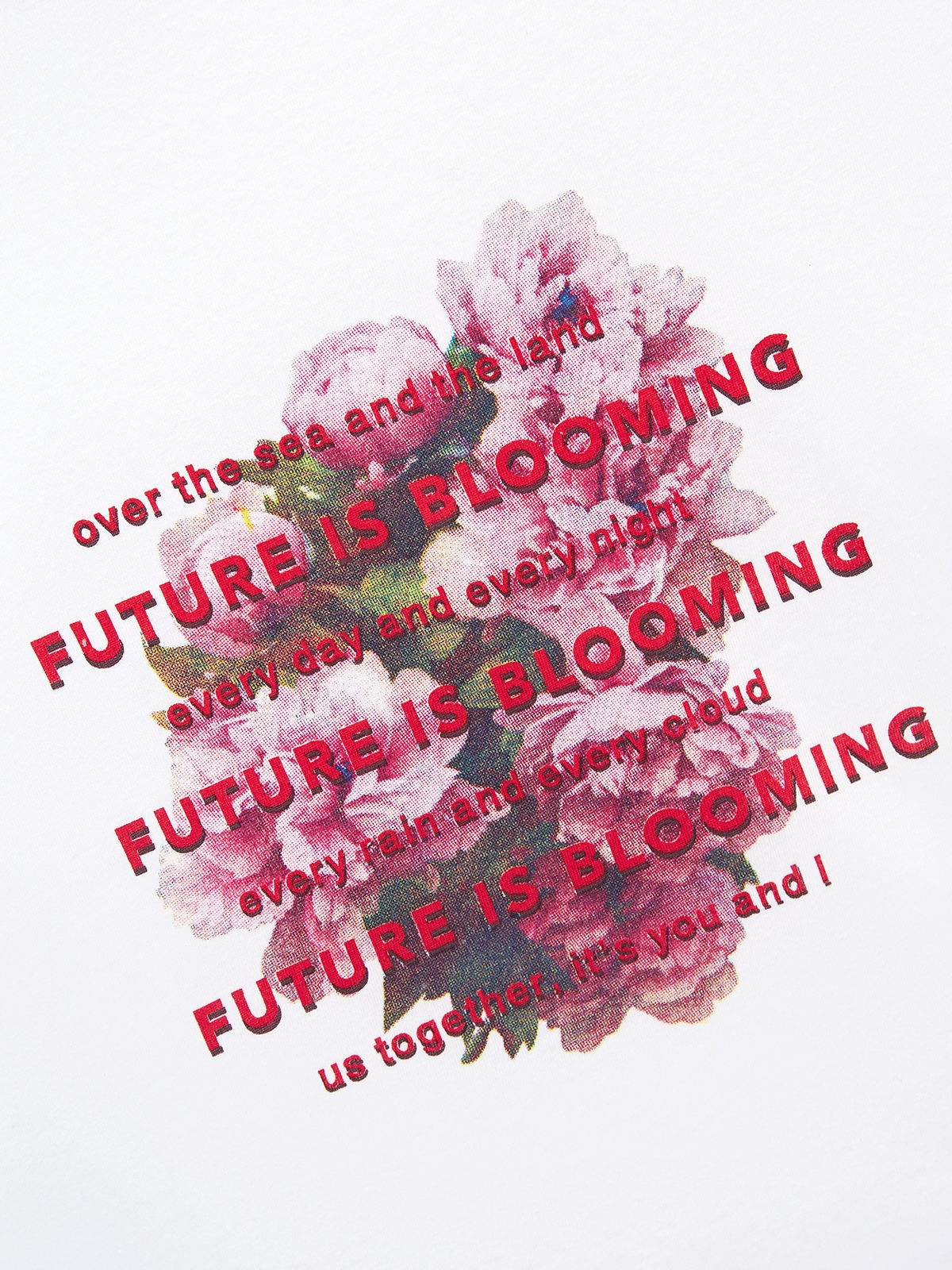 Future Is Blooming Organic Cotton Graphic Tee White
