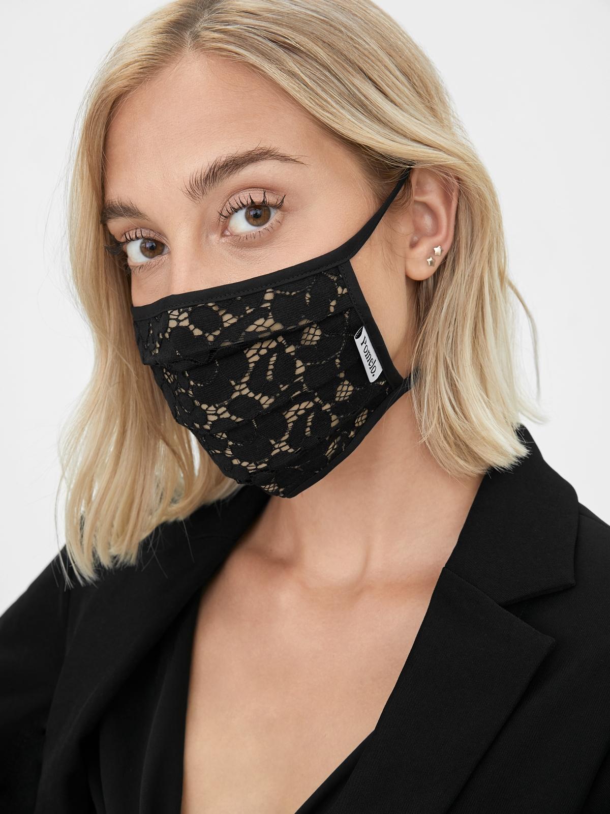 Reusable Lace Face Mask Black