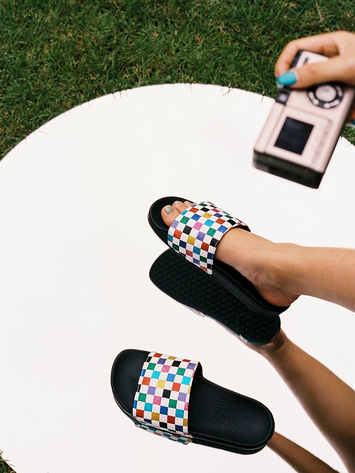 Vans Slide On Sandals Multi Color