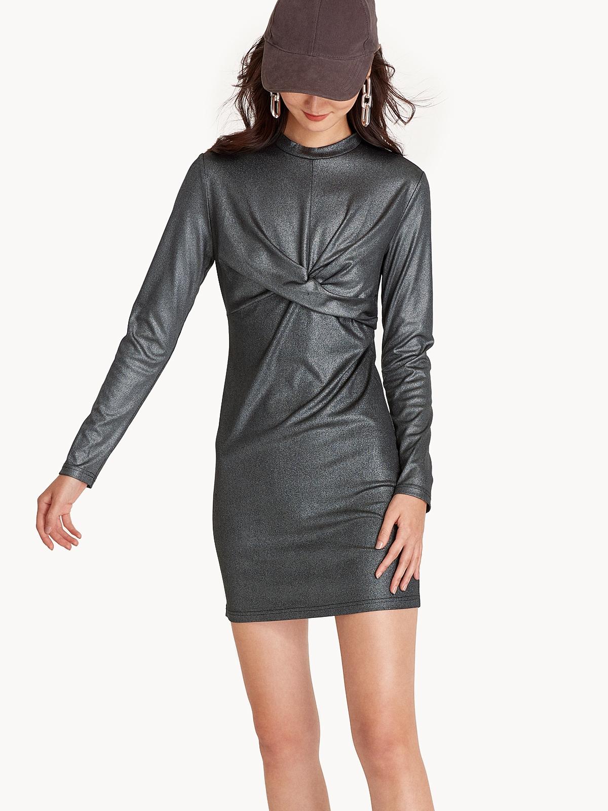 Damaris Metallic Bodycon Dress