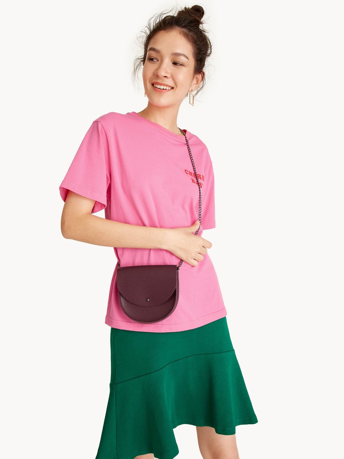 Faux Leather Mini Belt Bag Red
