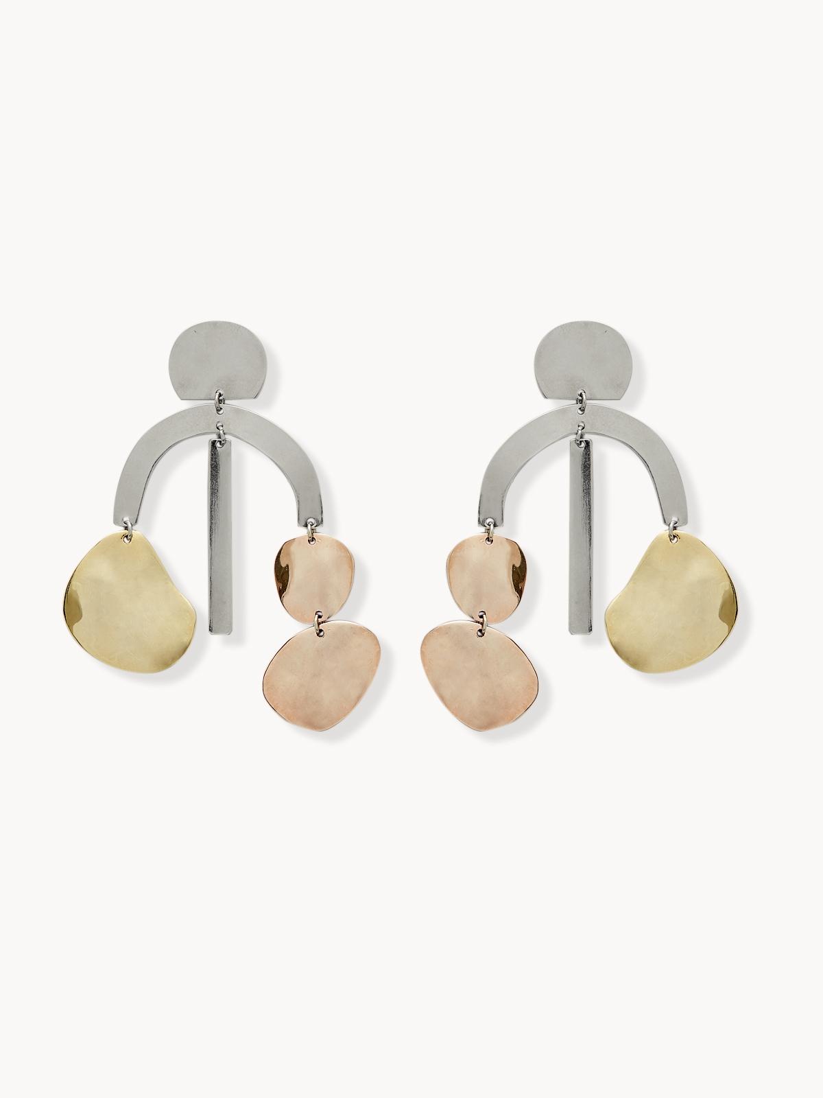 Premium Abstract Metal Plate Drop Earrings
