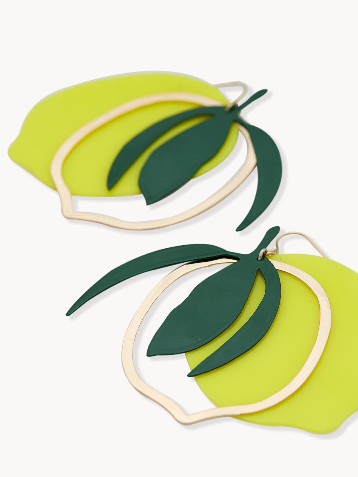 Premium Lemon Shape Drop Earrings