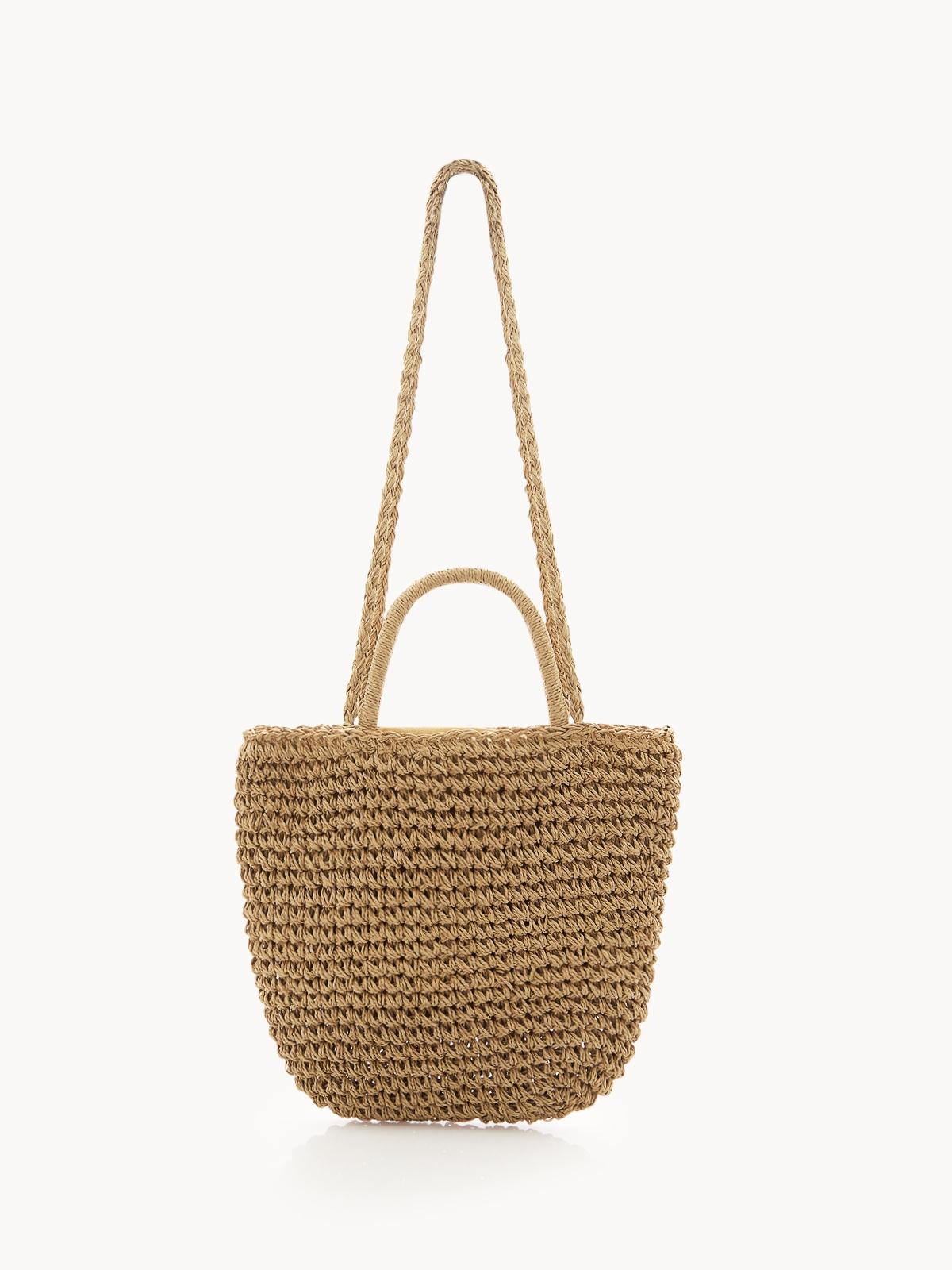 Woven Cross Body Bag Sand Beige