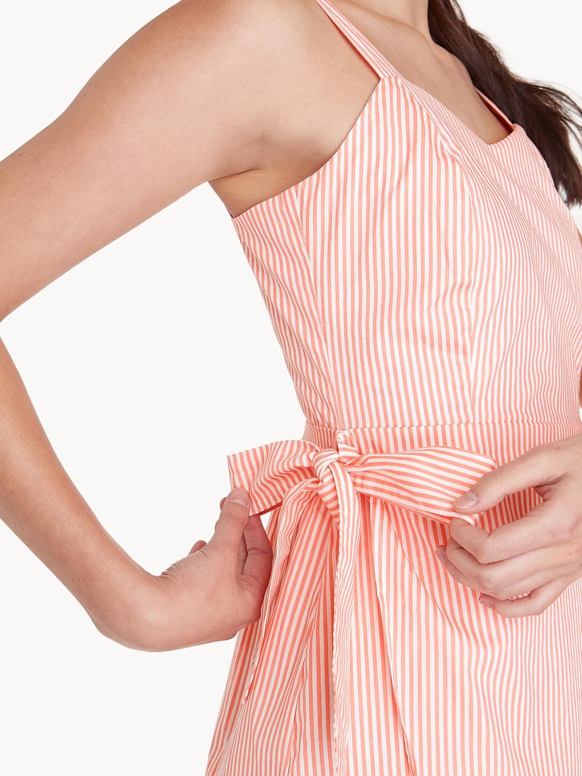 Mini Side Bow Straight Fit Dress Orange